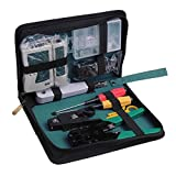 GORCHEN 11 in 1 Professional Network Computer Maintenance Repair Tool Kit Set Cable Crimper Network Tester Wire Punch Down Impact Tool Stripper Cutter