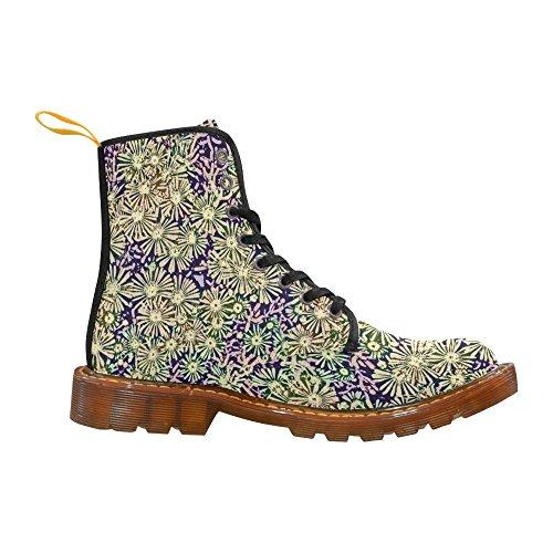 Leinterest Blommor Komisk Stil Martin Stövlar Mode Skor För Kvinnor