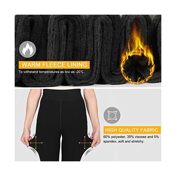 Aiglam Legging Femmes, Collant Chaud d'Hiver Avec Grande Taille Doublure Polaire Douce, Thermique Femme Leggings Taille…