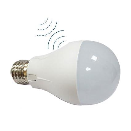 ELEDISON 2-Pack microondas Radar Sensor de movimiento activado LED Globe bombilla luz 7 W