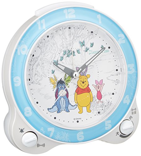 Seiko clock character alarm clock Pooh plastic frame ( white pearl paint ) FD462W