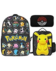Wyoubase Cartoon Leisure Knapsack Book Backpack Lunch Bag Pencil Case Suitable for All Ages