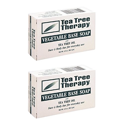 (Tea Tree Therapy, Soap Bar, Vegetable Base, 3.5 oz (2-Pack))