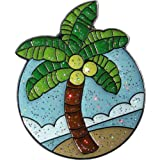 Navika Palm Tree Glitzy Ball Marker with Hat Clip