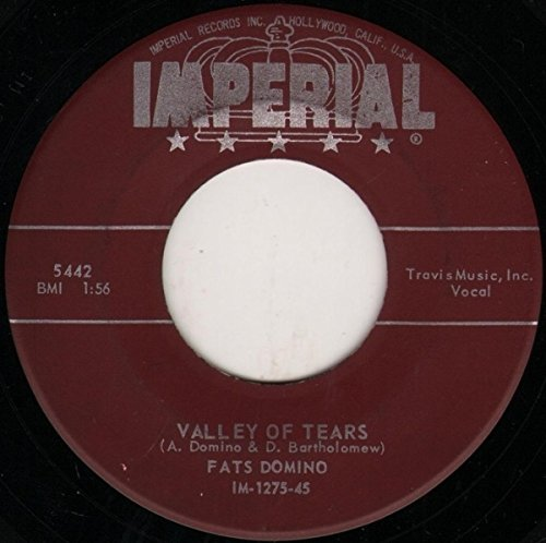 - FATS DOMINO-VALLEY OF TEARS/IT'S YOU I LOVE 78 RPM RECORD-IMPERIAL