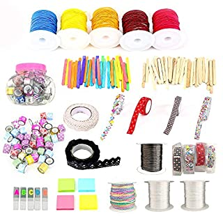 Pickme DIY Arts and Crafts Set for Paper Crafts, Christmas Decorations/Lots of Crafting Projects - Assorted Colored Cords, Washi Tapes, Papers, and Sticks. Great Addition to Your Pickme Crafting Box