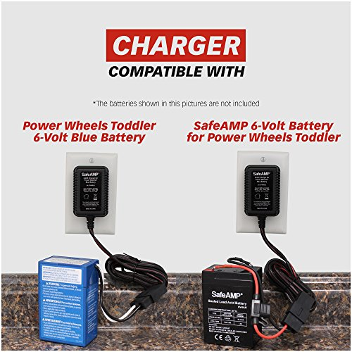 SafeAMP 6-Volt Charger for Fisher-Price Power Wheels Toddler Blue Battery by SafeAMP (Image #1)