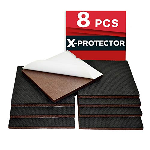 "NON SLIP FURNITURE PADS X-PROTECTOR PREMIUM 8 pcs 4"" Furniture Pad! Best Furniture Grippers - SelfAdhesive Rubber Feet Couch Stoppers – Ideal Furniture Floor Protectors for Fixation in Place Furniture"