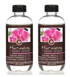 Hosley Set of 2 Floral Orchid Scents Reed Diffuser Refills Oil 230 ml (7.75 fl oz) Made in USA. Bulk Buy Ideal Gift for Weddings, Spa, Reiki, Meditation O4