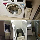 Homiak Slim-line Laundry Hamper With Wheels for