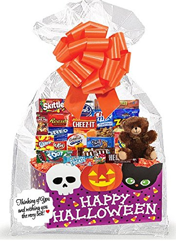 (Happy HalloWeen Thinking Of You Cookies, Candy & More Care Package Snack Gift Box Bundle)