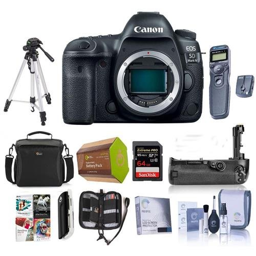 Canon EOS 5D Mark IV DSLR Body with Log - Bundle with 64GB U
