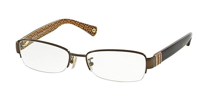 24dd693560e4a Amazon.com  COACH Eyeglasses HC 5027B 9094 Dark Brown Dark Tortoi 50MM   Clothing