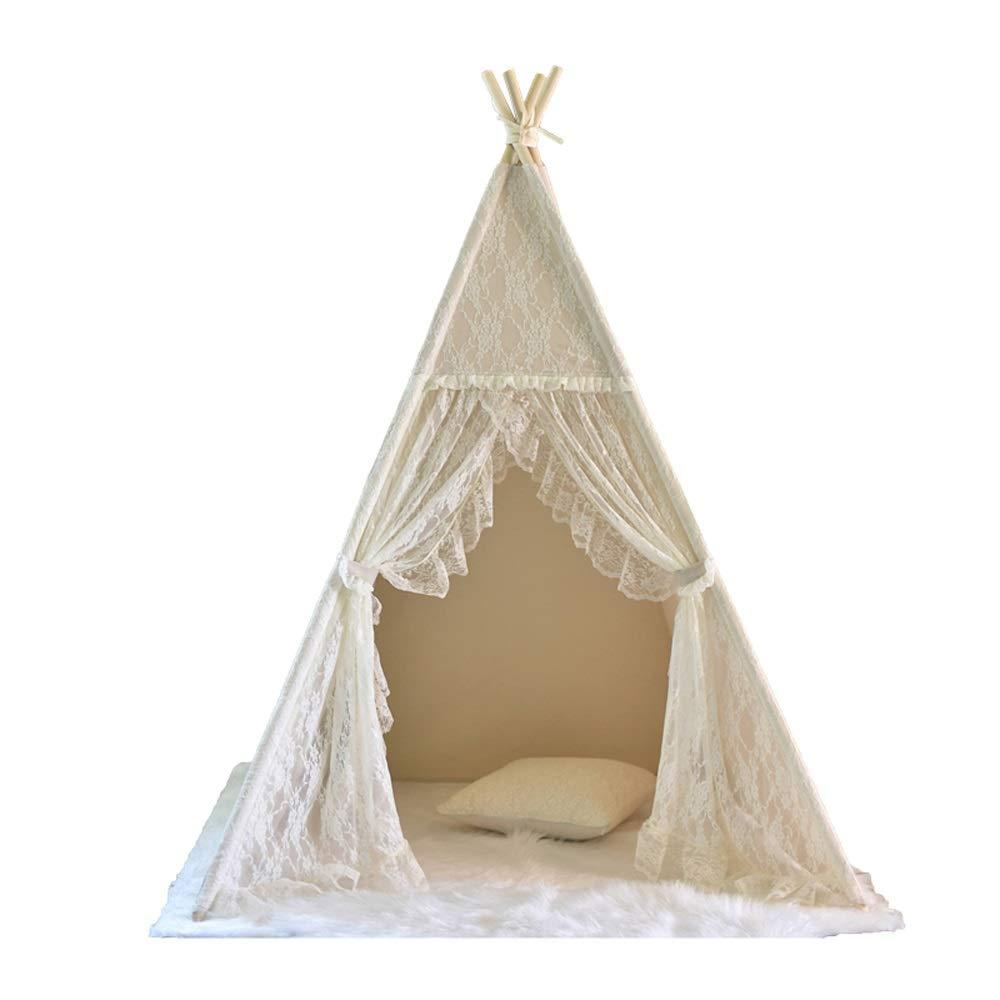 Mogicry 北欧スタイル コットン布 ティピー 木製フレーム 子供用 インディアン ティピー 男の子 女の子 女の子 赤ちゃん 子供 玩具 部屋 インテリア 室内 屋外 子供用 1+(100100165CM) B07P38WCDB, サイキシ:d4bb2237 --- forums.joybit.com