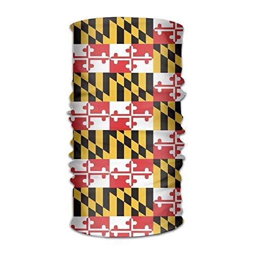 (Maryland State Flag Multifunctional Magic Headwear 12-in-1 Men&Women Tube Scarf Facemask Headbands Neck Gaiter Bandana Balaclava Helmet for Outdoor Running Yoga Work Out)
