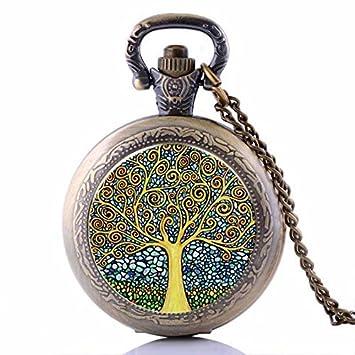 Vintage Cartoon Monster reloj de bolsillo chapado en bronce colgante collar- Wearable Art Pocket Watch