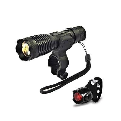 Éclairage Avant Vélo Torche Étanche Lampe de Poche USB Rechargeable Puissant Lumiere LED pour Cyclisme VTT VTC