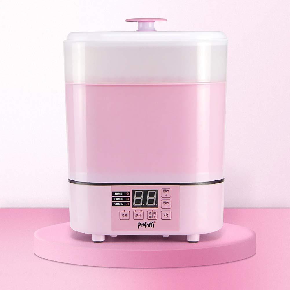 GUO@ Esterilizador/Secador / Calentador de biberones, 3 en 1 Esterilizador de vapor para bebés Multifunción para desinfección de leche en ebullición Cabina ...