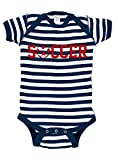 Patriotic Soccer Baby Bodysuit (18-24 months, Navy and White Stripe)