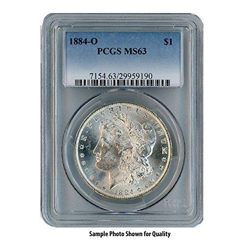 Gold Coin Rare (1884 O Morgan Silver Dollar $1 MS63 PCGS)