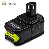 Munikind P108 4000mAh Replace for Ryobi 18V Battery Lithium ONE+ P102 P103 P104 P105 P107 P109 P122