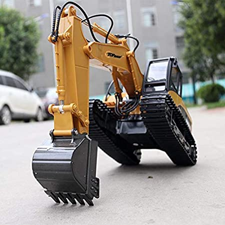 Top Race 15 Channel Full Functional Remote Control Excavator Construction  Tractor, Excavator Toy with 2 4Ghz Transmitter and Metal Shovel – TR 211