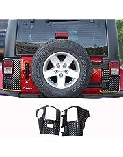 JeCar for Jeep Corner Guards, Body Armor Tail Light Cover for 2007-2018 Jeep Wrangler JK JKU