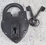 Antique Reproduction Heart Padlock with 2 Skeleton Keys INsideOUT by Upper Deck