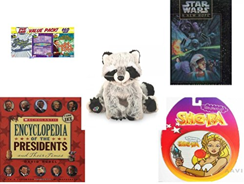 "Children's Gift Bundle - Ages 6-12 [5 Piece] - 3 Pack of DVD Classic Game Shows - Star Wars A New Hope 550 Piece Fully Interlocking Puzzle - Webkinz Raccoon 7"" - Scholastic Encyclopedia Of The Presi -  Secure-Order-Marketplace, Ent., dbund-6-12-1125"
