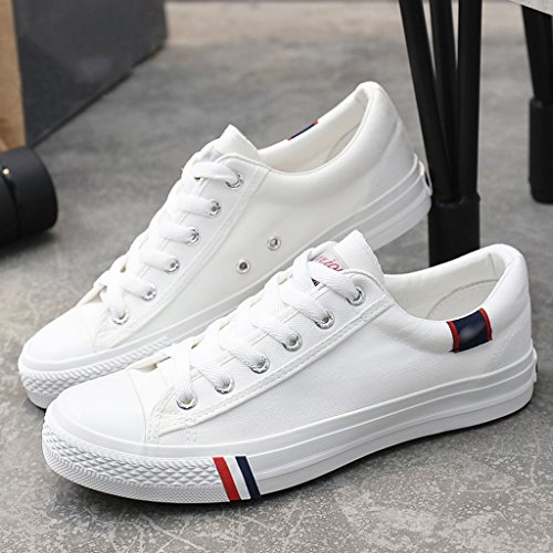 estate stile scarpe stoffa Bianca da coreano tendenza traspirante di Color uomo Scarpe 34 Espadrillas Size Scarpe basse YaNanHome di scarpe di in tela Bianca 6P7CzC