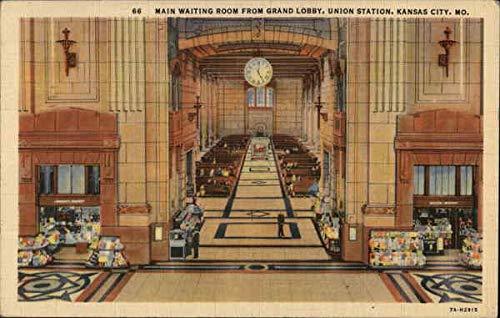 Main Waiting Room from Grand Lobby, Union Station Kansas City, Missouri Original Vintage Postcard