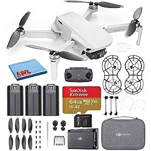 DJI Mavic Mini Fly More Combo Ultralight Foldable 3-Axis GPS Quadcopter Drone with 2.7K FHD Camera – 30 Min. Flight Time…