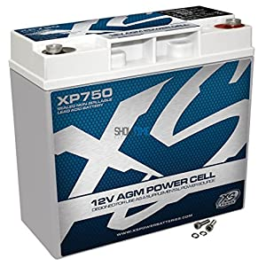 XS Power XP750 XP Series 12V 750 Amp AGM Supplemental Battery with M6 Terminal Bolt