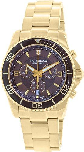 Victorinox Swiss Army Men's Maverick 241691 Gold Stainless-Steel Swiss Quartz Watch