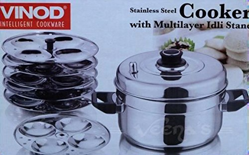 Vinod Stainless Steel Cooker with 5 Multi Layer IDLI Stand (Best Idli Cooker Brand)