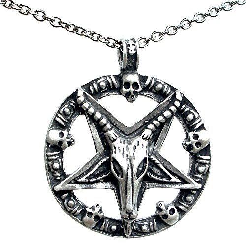 ohdeal4u sigil of baphomet sabbatic goat pewter pendant charm amulet 1968 Shelby Mustang ohdeal4u sigil of baphomet sabbatic goat pewter pendant charm amulet w stainless steel chain necklace amazon