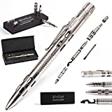 Best Tactical Pen for Personal Protection and Self Defense – EDC Pen with Built-in Glass Breaker, LED Flashlight – Outdoors Survival Gear for Concealed Carry – Tactical Pens Holder Set by BellFyd