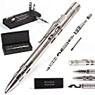 Best Tactical Pen for Personal Protection and Self Defense – EDC Pen with Built-in Glass Breaker, LED Flashlight – Outdoors Survival Gear for Concealed Carry - Tactical Pens Holder Set by BellFyd