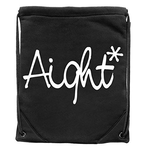 Aight Evolution Turnbeutel/Gym Bag OG Logo schwarz (black)