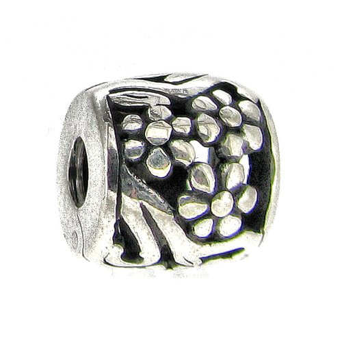 Flower Sterling Silver Clip - Sterling Silver Blossom Flower Clip Clasp Bead For European Charm Bracelets
