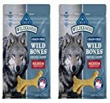 Blue Buffalo BLUE Wilderness Wild Bones Grain Free Dental Chews Medium (2 Pack) For Sale