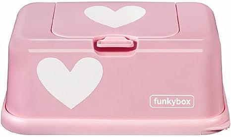 funkybox – Caja para toallitas decorado con corazones, color rosa ...