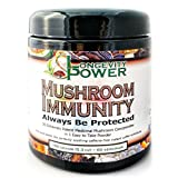 Mushroom Immunity, 35 Extremely Potent Medicinal Mushroom Concentrates in 1 Easy to Take Powder, 60 servings, 150g (5.3 oz)
