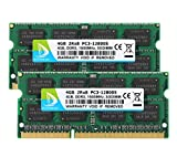 DUOMEIQI 8GB Kit (2 X 4GB) 2RX8 PC3-12800S DDR3 1600MHz SODIMM CL11 204 Pin 1.5v Non-ECC Unbuffered Notebook Memory Laptop RAM Modules Compatible with Intle AMD and Mac Computer