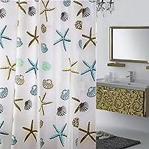"BeGrit Shower Curtain Liner PEVA Waterproof Repellant with Hooks, 70"" x 78"""