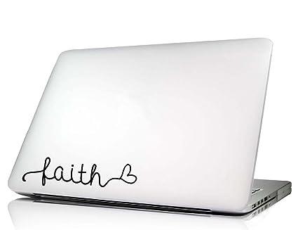 Faith heart laptop decal vinyl macbook skin sticker saying lettering religious art die cut
