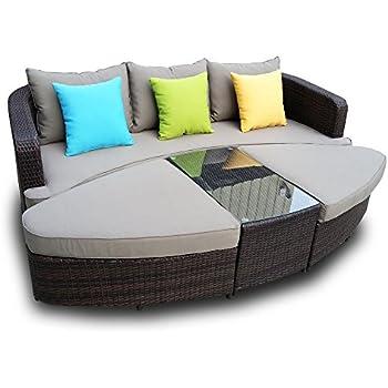 Amazon Com Naples Deep Seating 4 Piece Modular Sofa Set