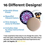 16 More Covers to Put On Your Phone Grip – Change The Design in 12 Seconds - 16 Swappable Covers, Removable, Replacement Pack of Tops, Caps, Disc Only