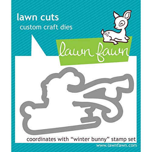 Lawn Cuts Custom Craft Die-winter Bunny (Lawn Fawn Bunnies)