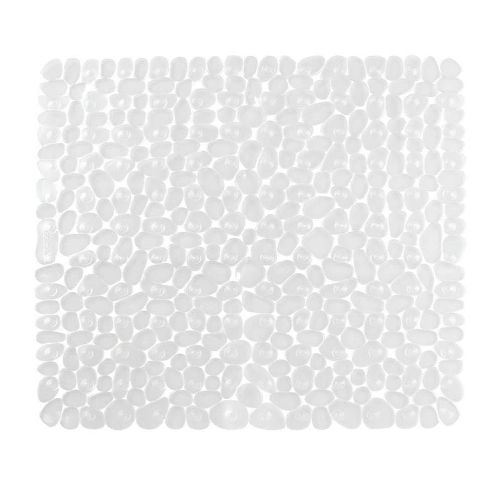 Anti-Muffa NANAD con Ventose per Vasca da Bagno 54 x 54 cm Tappetino Quadrato per Vasca da Bagno Taglia Libera Antiscivolo Quadrato Transparent